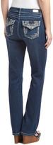 Earl Jean Blue Dark Wash Embellished Bootcut Jeans
