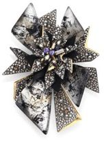 Alexis Bittar Crystal-Encrusted Lucite Perennial Punk Brooch