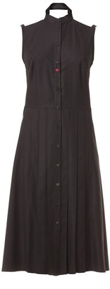 Talented Pleated Front Bare Shoulders Dress With Side Pockets