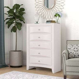 ACME Furniture Ireland 5 Drawer Chest Color: White