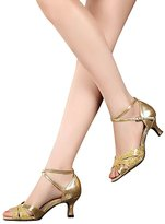 superpark Women's Latin dance shoes with soft sole female Latin sandals Ballroom Dance Shoes