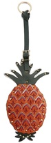 Valentino Tropical Dream pineapple leather key fob