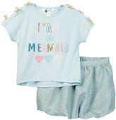 Petit Lem Shirt & Bubble Skirt Set (Toddler, Little Girls, & Big Girls)