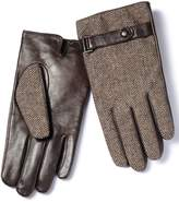 Brown Tweed Gloves Size Large By Charles Tyrwhitt
