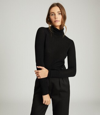 Reiss Sophie - Knitted Roll Neck in Black