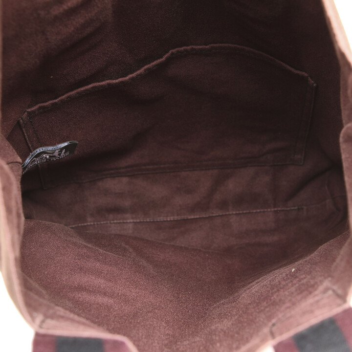 Thumbnail for your product : Hermes Red/Black Canvas Fourre Tout Cabas bag