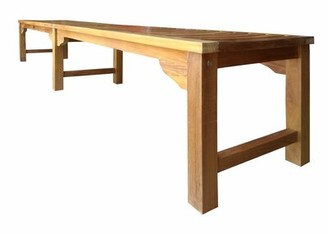"Ingrid Backless Wooden Picnic Bench Bay Isle Home Size: 18"" H x 94"" W x 18"" D"