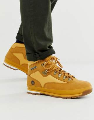 Timberland euro hiker boots in mid wheat-Beige
