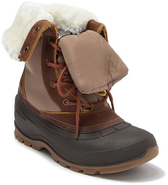 Kamik Harper Waterproof Leather Faux Fur Snow Boot