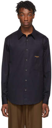 Wooyoungmi Navy Pocket Logo Shirt