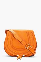 CHLOE Medium Indian Summer Orange Leather Marcie Shoulder Bag