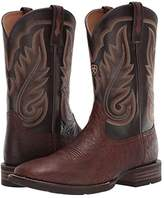 Ariat Promoter (Matte Brown Smooth Quill Ostrich/Basic Brown) Cowboy Boots
