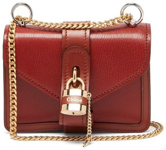 Chloé Aby Mini Leather Cross-body Bag - Womens - Dark Brown