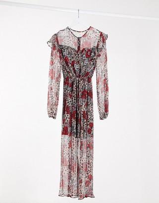 Stevie May youth long sleeve midi dress in multi