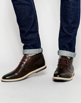 Frank Wright Barnet Leather Chukka Boots - Red