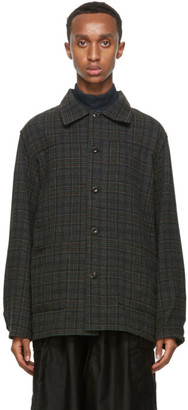 Needles Grey Plaid Flannel Shirt