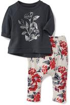 Old Navy 2-Piece Graphic Sweatshirt and Pants Set for Baby