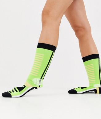 ASOS 4505 ski socks in neon green