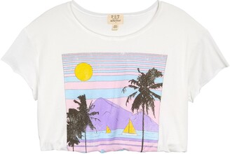 Project Social T Beach Front Crop Graphic Tee