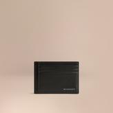 Burberry London Leather Money Clip Card Case, Black