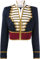 DSQUARED2 cropped military jacket - women - Silk/Cotton/Polyester/Virgin Wool - 38