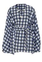 Diane von Furstenberg Wrap Front Mikado Jacket