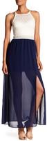 Amy Byer A. Byer Mixed Media Maxi Dress
