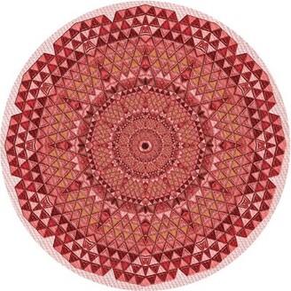 East Urban Home Geometric Wool Red/Pink Area Rug Rug Size: Runner 2' x 5'