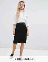 New Look Petite Tailored Pencil Skirt