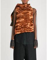 Ann Demeulemeester Vixen sleeveless velvet wrap top