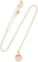Alison Lou Small Bashful Enameled 14-karat Gold Necklace - one size