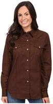 Roper 0466 Solid Poplin - Chocolate Women's Clothing