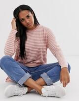 Asos Design DESIGN oversized t-shirt in burnout stripe with long sleeve
