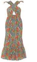 Banjanan Cecil Floral Cutout Midi Dress
