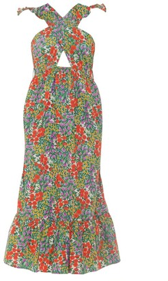 Banjanan Cecil Floral Cutout Midi Dress
