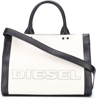 Diesel Colour-Block Logo Tote Bag