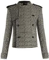 Haider Ackermann Raw-edge hound's-tooth wool-blend jacket
