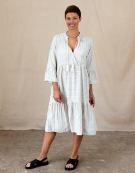 Project Aj117 - Cream Stripe Luce Dress - small