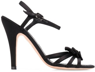 Chanel Pre Owned 1990's Bow Details Sandals