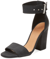 Berra Embossed Leather Two-Piece Sandal