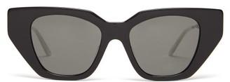 Gucci Crystal-embellished Cat-eye Acetate Sunglasses - Womens - Black Multi