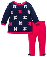 Little Me Baby Girls Two-Piece Floral Sweater and Leggings Set
