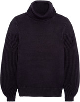 Iris and Ink Alessandra turtleneck cotton and wool-blend sweater