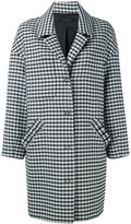 Mother of Pearl checked drop shoulder coat - women - Polyamide/Polyester/Spandex/Elastane - M