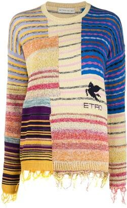 Etro Striped Panelled Jumper