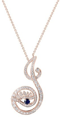 Tabayer Eye 18K Rose Gold, Sapphire & Diamond Joyous Pendant Necklace