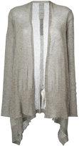 Rick Owens open front shawl cardigan - women - Polyamide/Alpaca - S