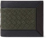 Bottega Veneta Intrecciato-Trimmed Full-Grain Leather Billfold Wallet