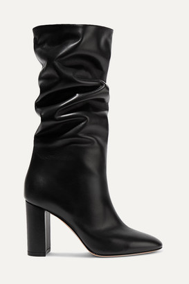 Gianvito Rossi Laura 85 Leather Knee Boots - Black