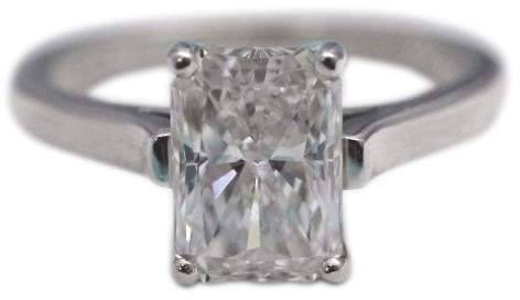 Tiffany & Co. 950 Platinum 2.07ct. Diamond Engagement Ring 5.75